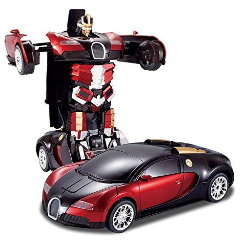 Generic Converting Car To Robot Transformer with Remot controller for Kids (Color May Varies)