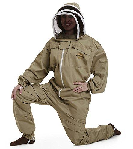 Natur Bienenhaus–Apiarist Bienenzucht Anzug–Khaki–(All-in-One)–Zaun Schleier–insgesamt Schutz für professionelle & Anfänger Imker–Groß