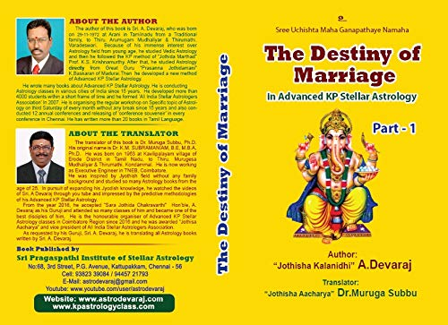 The Destiny of Marriage in Advanced KP Stellar Astrology (English Edition)
