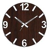 #4: Studio Shubham handmade decorative wood wall clock with 3d numbers(26.5cmx26.5cmx3cm)