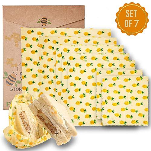 Y&J Beeswax Warp Wachspapier, Wachspapier Bienenwachstücher (1 Large,1 Medium,1 Small) aus natürlichem Bienenwachs und Öko-Tex Baumwolle ...