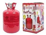 Bouteille d'hélium grand format pour Air Swimmers, Kit hélium à usage unique comprenant une bouteille et sa buse de remplissage, bonbonne 0,42 m3 d'hélium...