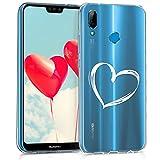 kwmobile Huawei P20 Lite Hülle - Handyhülle für Huawei P20 Lite - Handy Case in Weiß Transparent