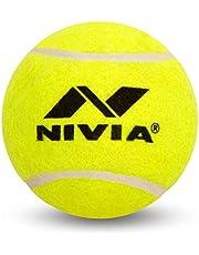 Nivia Light Weight Rubber Tennis Cricket Ball, Pack of 12 (Yellow)