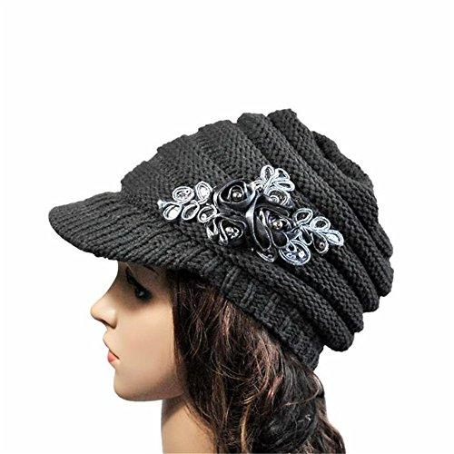 Verziert Faux Pelz (uBabamama Damen Handschuh-Set mehrfarbig grau)