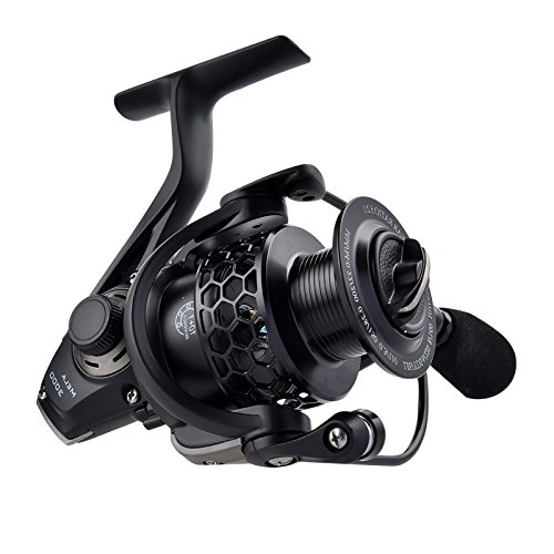 KastKing® Mela Spinning Reel - Light, Smooth, Powerful and Comes with a FREE Spare Spool - 2016 Newly Released Spinning Fishing Reel Gives You Years of Fishing Fun (BLACK, Mela2000)