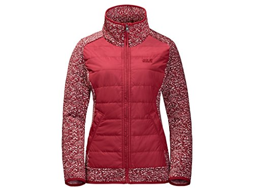 Jack Wolfskin, Giacca in pile Donna Belleville Crossing indian red all over