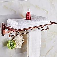 ZHGI Spazio di alluminio attività Portasalviette mensola per bagno oro rosa piegatura rack di storage