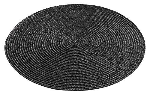 décor line ZEBULON Set de table Plastique Noir 35 x 35 cm