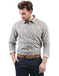 US Polo Association Men's Printed Regular Fit Casual Shirt
