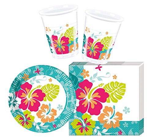 rtyset Hawaiian, S (Blumen-party-servietten)