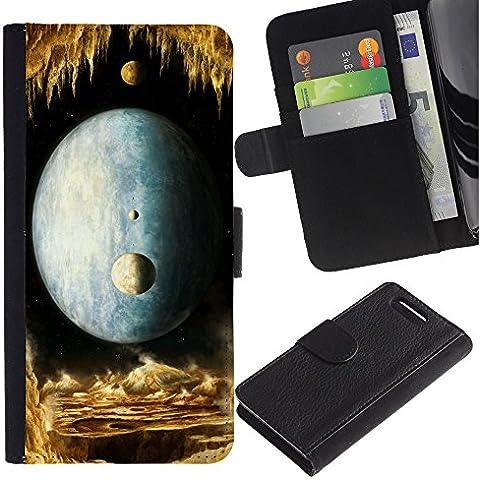 OMEGA Case / Sony Xperia Z1 Compact D5503 / THE WORLD CROWNS SUCCESS / Cuero PU Delgado caso Billetera cubierta Shell Armor Funda Case Cover Wallet Credit Card