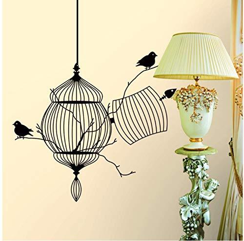 asfrata265 Vögel Käfig Baum Zweig Kreative Moderne Vinyl Wandaufkleber/Abnehmbare Imprägnierung Home Wandtattoo