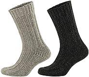 GoWith 2'li Alpaka Doğal Yünlü Kışlık Çorap Seti
