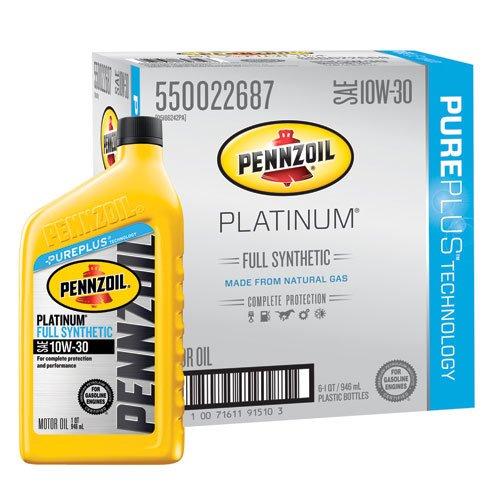 pennzoil-550022687-6pk-platinum-10w-30-full-synthetic-motor-oil-1-quart-by-pennzoil