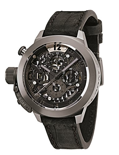 U-Boat Men's Chronograph Automatic Watch with Leather Strap U8060