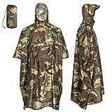 AWHA Regenponcho Camouflage/Unisex – der extra Lange Regenschutz mit...