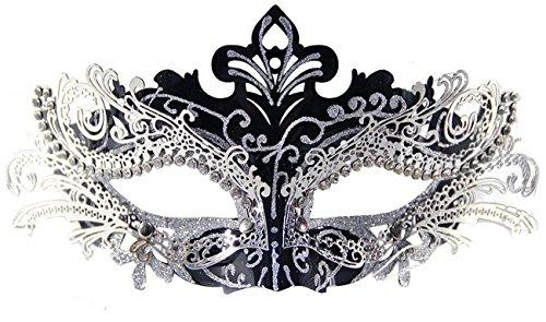 Masken Karneval (Metall Laser Cut Metall Venezianischen Karnevalsmaske Maskerade Maske mit Kristallen)