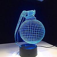 KYJ Night Light Bomb Design 3D Led Lamp Desk Battle Royale Gift for Boyfriend Gamer Son Grandson Birthday Decor Light Gift