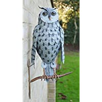 Black Country Metal Works Owl Wall Decoration Ornamental Garden Sculpture