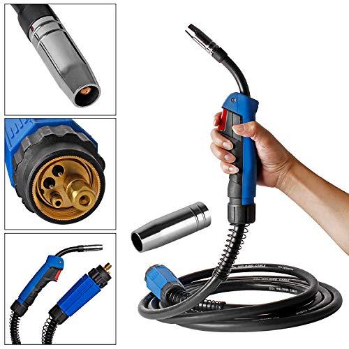 Topwill Schweißbrenner MB15 Schlauchpaket Schutzgas CO2 Welding Torch Gun Hals für MIG/MAG Schweißgerät (3m)