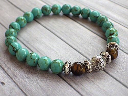 bracelet-pour-hommes-en-perles-de-turquoise-reconstituee-et-perle-oeil-de-tigre
