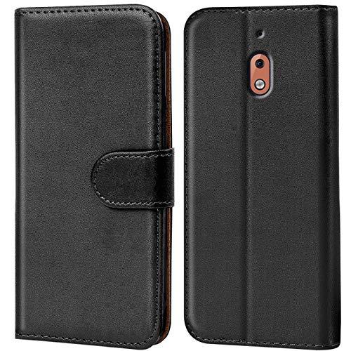 Verco Custodia per Nokia 2.1, Case per Nokia 2.1 Cover PU Pelle Portafoglio Protettiva, Nero