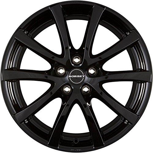 Borbet - Llantas de aleación, ancho: 7, diámetro: 17 agujero círculo: 110, color: negro brillante