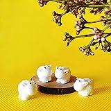yiyufengqing Ziege/Schaf/Kuh/Fee Gartenzwerg Tiere/Moos Terrarium Home Desktop Dekor/Handwerk/Puppenhaus/Miniaturen/DIY Zubehör/Modell/Spielzeug@4 Ziegen