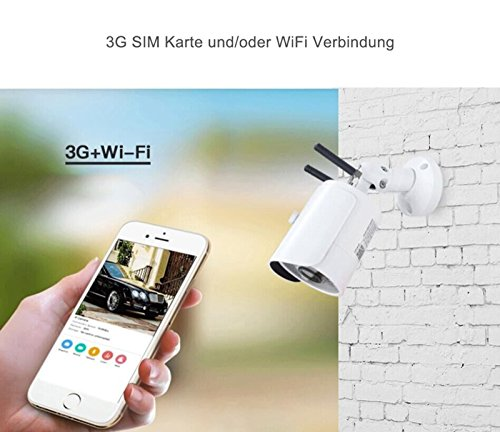 Lan Cpu (3G GPRS GSM HD Überwachungskamera für W-LAN & 3G WiFi IP Kamera für Überwachung für Mobilfunk SIM Karte für Innen Aussen Wasserdicht Outdoor Pferde Stall Überwachung)