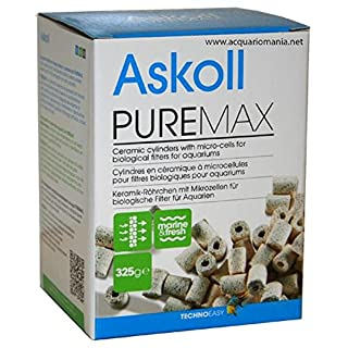 Askoll PureMax - Keramik-Röhrchen mit Mikrozellen für biologische Filter für Aquarien - 325 g