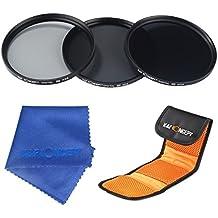 58mm ND2 ND4 ND8 Filtro - K&F Concept Filtro de Densidad Neutra Filtro para Canon 600D EOS M M2 700D 100D 1100D 1200D 650D DSLR Cámaras + Paño de Limpieza Microfibra + Estuche para Filtro