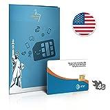 Prepaid Data Sim-Karte USA - AT&T Netz - Unbegrenzte Daten 4G LTE - 30 Tage