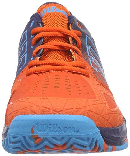 Wilson - KAOS COMP, Scarpe da tennis Uomo Multicolore (Mehrfarbig (TOMATO RED/NAVY WILSON/SCUBA BLUE))
