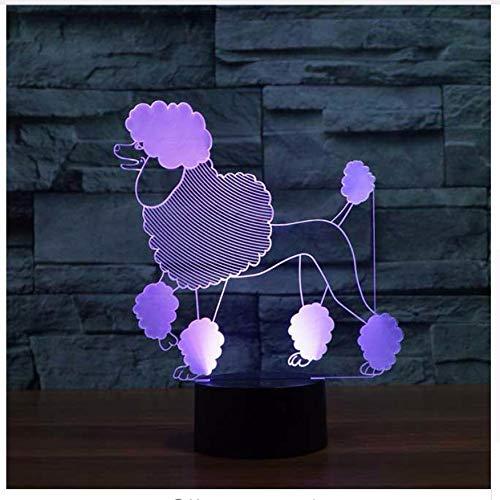 Cut Dog Modell Acylic 3D Babyzimmer Nachtlicht Mode Babyzimmer Touch Base Tischlampe 7 Farbwechsel Schlafzimmer Beleuchtung Wohnkultur Für kinder Geschenk Licht Box