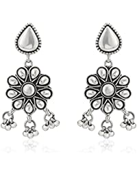 Ahilya Jewels Dakshin .925 Sterling Silver and Drop Earrings