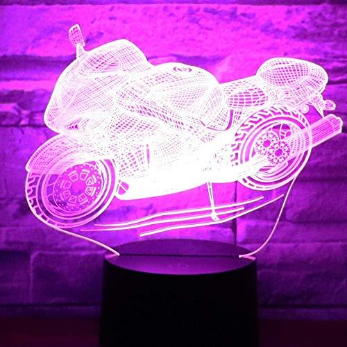 Lixiaoyuzz Luci Notturne 3D MotoLedCon 7 Colori Luce Per La Decorazione Della Casa Lampada Amazing Visualization Optical Illusion Awesome
