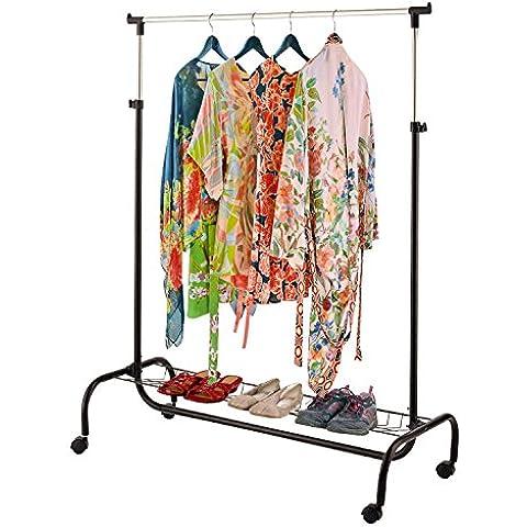 Parte superior Home Solutions® 2en 1portátil ropa barra para colgar la ropa de almacenamiento Rack con estante para zapatos