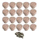 BQLZR Accesorio para el hogar, 35 x 25 mm, madera, color Superba, madera, perillas redondas y tiradores para...