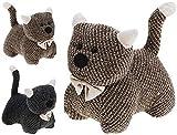 The Magic Toy Shop Grande pesante tessuto animale gattino fermaporta casa ufficio peluche
