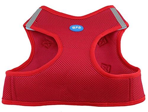 BPS® Hundegeschirr für Hunde, Haustiere, für kleine, mittelgroße und große Hunde, rot, XL
