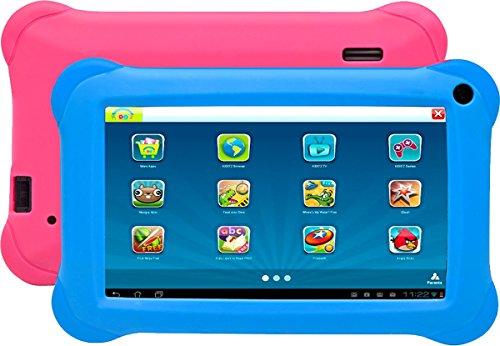 Preisvergleich Produktbild Denver 'Tablet taq-70283kbluepink 7Quad Core 16GB 1GB Android 6+ Kido' Z 2Kissenbezüge blau und rosa für Kinder