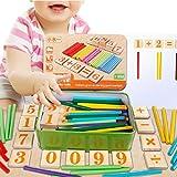 Tongshi El niño embroma Números de madera Matemáticas Aprendizaje Temprano Contando juguete educativo