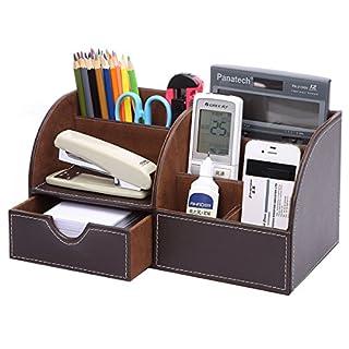 Homfa Bambus Schreibtisch Organizer Set Stiftablage