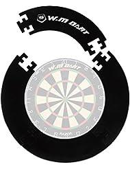 Dart-Backboard Auffangring Rund In Rot Oder Schwarz, Einfache Montage Des Catchring Um Die Dartscheibe