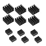MFH-D 12 Aluminium Kühlkörper Kühler-Set für Raspberry Pi 3, Pi 2, Pi Modell B + schwarz