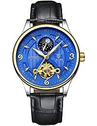 c774101e71d7 Homyl Reloj Mecánico de Pulsera Elegante Matreriales de Regalo para  Deportista Duradero - negro-azul