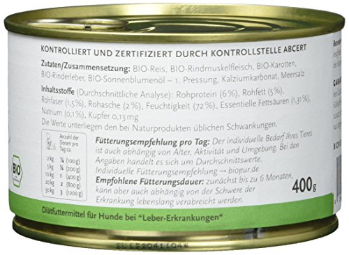 Biopur Bio Diätfutter Leber-Erkrankungen 400g, 6er Pack (6 x 400 g) - 5