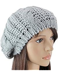 Crochet Slouch Baggy Beret Beanie Hat Cap