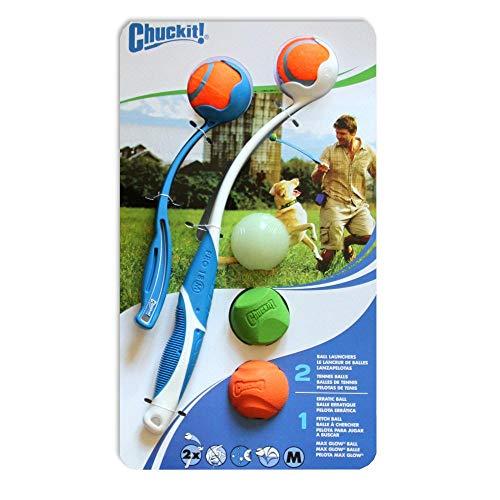 Chuckit Doppel Launcher 5Ball Combo Pack